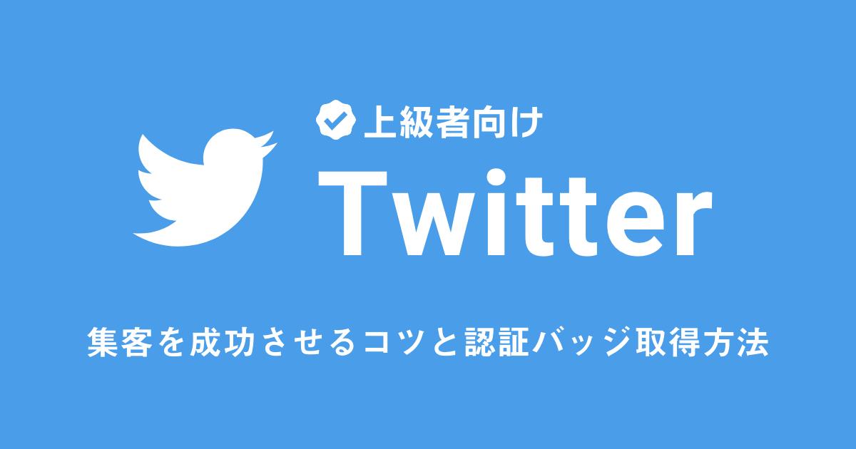 【上級者向け】Twitterで集客を成功させるコツと認証バッジ取得方法!
